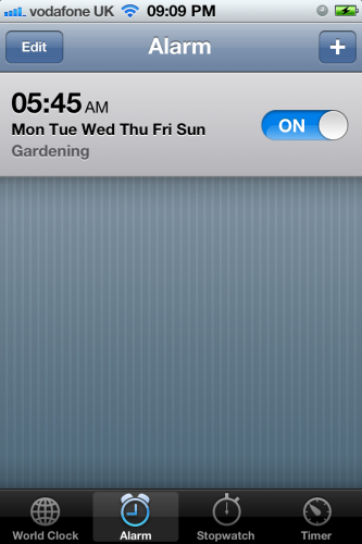 Early Morning Gardening
