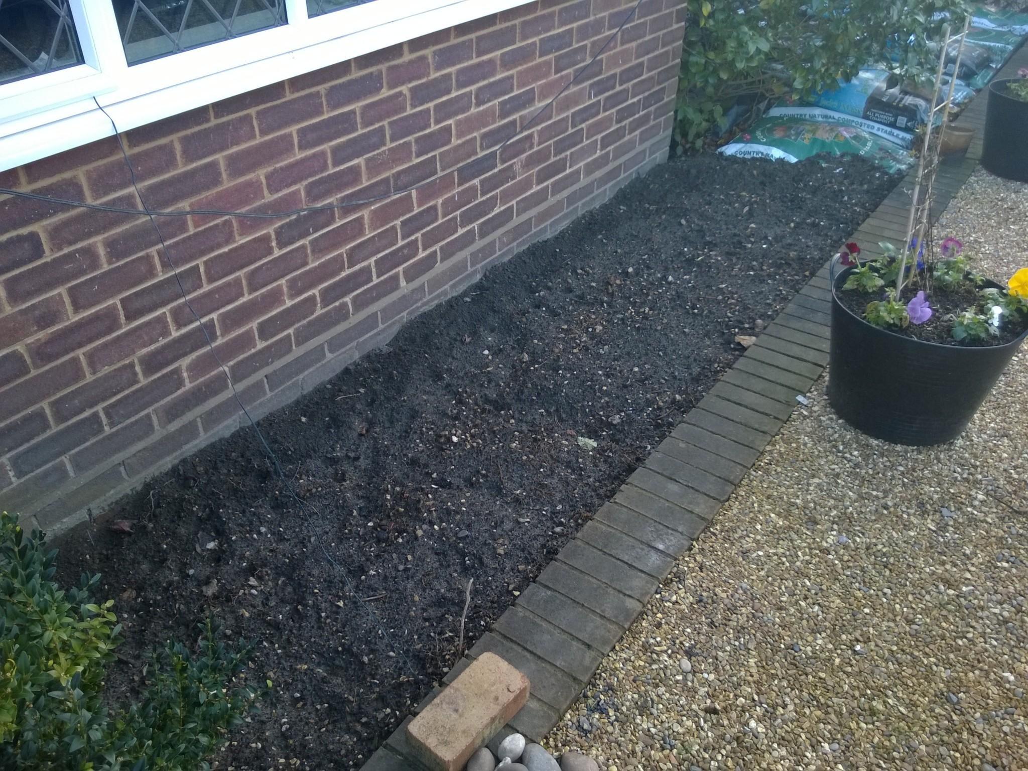 Front Bay Border Cleared